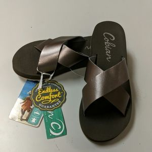 Cobian Kara pewter color sandals